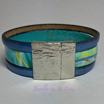 Multi Color Bands of Leather Bracelet