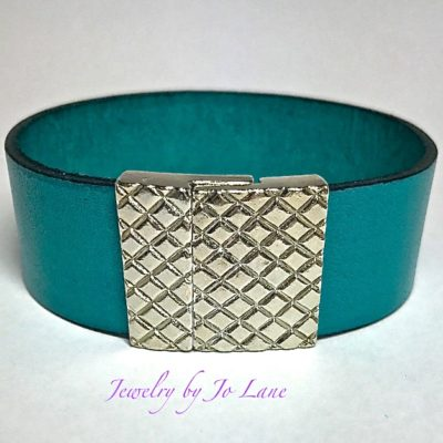 Turquoise Leather Bracelet